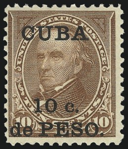 Sale Number 1094, Lot Number 369, United States Possessions: Cuba, Danish West IndiesCUBA, 1900, 10c on 10c Brown, Ty. II (226A), CUBA, 1900, 10c on 10c Brown, Ty. II (226A)