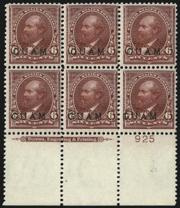 Sale Number 1094, Lot Number 376, United States Possessions: GuamGUAM, 1899, 5c Lake (6), GUAM, 1899, 5c Lake (6)