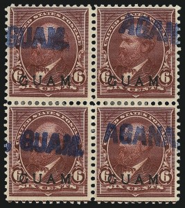 Sale Number 1094, Lot Number 377, United States Possessions: GuamGUAM, 1899, 5c Lake (6), GUAM, 1899, 5c Lake (6)