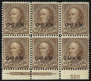 Sale Number 1094, Lot Number 381, United States Possessions: GuamGUAM, 1899, 10c Brown, Ty. I (8), GUAM, 1899, 10c Brown, Ty. I (8)