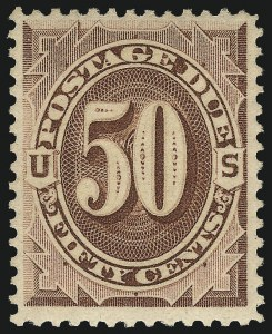 Sale Number 1094, Lot Number 60, Postage Due: 1879-91 Issues (Scott J1-J28)50c Red Brown (J21), 50c Red Brown (J21)