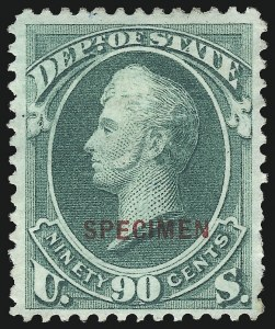 Sale Number 1095, Lot Number 608, State Department1c-90c State, Specimen Ovpt. (O57S-O67S), 1c-90c State, Specimen Ovpt. (O57S-O67S)
