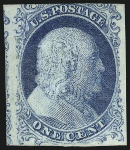 Sale Number 1096, Lot Number 10, 1851-56 Issue (Scott 5-17)1c Blue, Ty. Ib (5A), 1c Blue, Ty. Ib (5A)