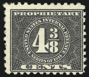 Sale Number 1096, Lot Number 1007, 1898 Spanish-American War, Documentary, Proprietary Revenue Issues4-3/8c Black, 1914 Issue, Proprietary (RB42), 4-3/8c Black, 1914 Issue, Proprietary (RB42)