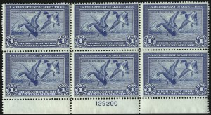 Sale Number 1096, Lot Number 1032, Hunting Permits$1.00 1934 Hunting Permit (RW1), $1.00 1934 Hunting Permit (RW1)