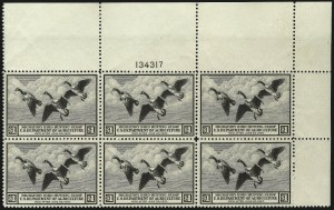 Sale Number 1096, Lot Number 1034, Hunting Permits$1.00 1936 Hunting Permit (RW3), $1.00 1936 Hunting Permit (RW3)