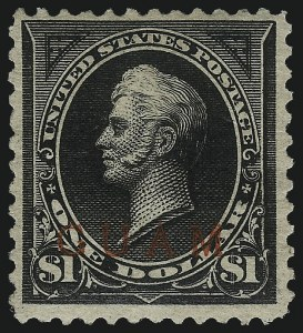 Sale Number 1096, Lot Number 1054, U.S. PossessionsGUAM, 1899, $1.00 Black, Ty. II (13), GUAM, 1899, $1.00 Black, Ty. II (13)
