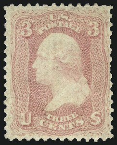 Sale Number 1096, Lot Number 119, 1861-66 Issue (Scott 63-68)3c Pink (64), 3c Pink (64)