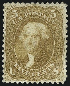 Sale Number 1096, Lot Number 127, 1861-66 Issue (Scott 63-68)5c Buff (67), 5c Buff (67)