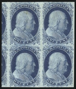 Sale Number 1096, Lot Number 14, 1851-56 Issue (Scott 5-17)1c Blue, Ty. II (7), 1c Blue, Ty. II (7)