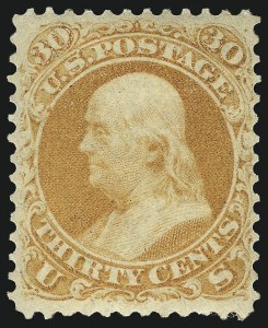 Sale Number 1096, Lot Number 140, 1861-66 Issue, cont. (Scott 69-78c)30c Orange (71), 30c Orange (71)