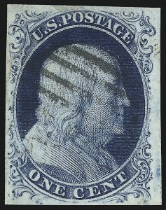 Sale Number 1096, Lot Number 15, 1851-56 Issue (Scott 5-17)1c Blue, Ty. III (8), 1c Blue, Ty. III (8)
