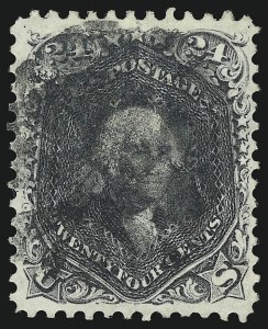 Sale Number 1096, Lot Number 153, 1861-66 Issue, cont. (Scott 69-78c)24c Blackish Violet (78c), 24c Blackish Violet (78c)