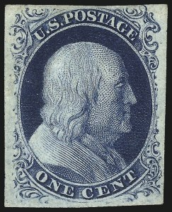 Sale Number 1096, Lot Number 16, 1851-56 Issue (Scott 5-17)1c Blue, Ty. IIIa (8A), 1c Blue, Ty. IIIa (8A)