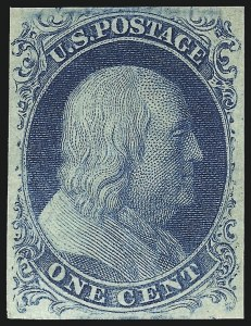 Sale Number 1096, Lot Number 18, 1851-56 Issue (Scott 5-17)1c Blue, Ty. IV (9), 1c Blue, Ty. IV (9)