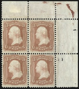 Sale Number 1096, Lot Number 180, 1867-68 Grilled Issue, E-F Grills (Scott 86-101)3c Red, F. Grill (94), 3c Red, F. Grill (94)