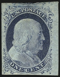 Sale Number 1096, Lot Number 19, 1851-56 Issue (Scott 5-17)1c Blue, Ty. IV (9), 1c Blue, Ty. IV (9)