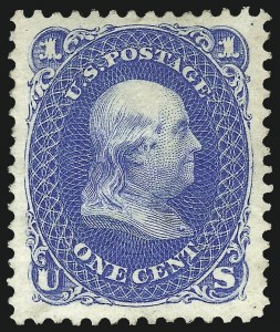 Sale Number 1096, Lot Number 198, 1875 Re-Issue of 1861-66 Issue (Scott 102-111)1c Blue, Re-Issue (102), 1c Blue, Re-Issue (102)