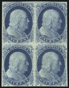 Sale Number 1096, Lot Number 20, 1851-56 Issue (Scott 5-17)1c Blue, Ty. IV (9), 1c Blue, Ty. IV (9)