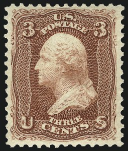 Sale Number 1096, Lot Number 202, 1875 Re-Issue of 1861-66 Issue (Scott 102-111)3c Brown Red, Re-Issue (104), 3c Brown Red, Re-Issue (104)