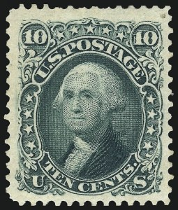 Sale Number 1096, Lot Number 204, 1875 Re-Issue of 1861-66 Issue (Scott 102-111)10c Green, Re-Issue (106), 10c Green, Re-Issue (106)