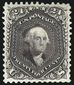 Sale Number 1096, Lot Number 207, 1875 Re-Issue of 1861-66 Issue (Scott 102-111)24c Deep Violet, Re-Issue (109), 24c Deep Violet, Re-Issue (109)