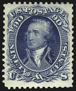 Sale Number 1096, Lot Number 209, 1875 Re-Issue of 1861-66 Issue (Scott 102-111)90c Blue, Re-Issue (111), 90c Blue, Re-Issue (111)