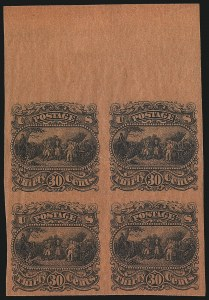 Sale Number 1096, Lot Number 212, 1869 Pictorial Issue (Scott 112-122)30c Black, Burgoyne Plate Essay on Thin Surface-Tinted Paper (121-E1p), 30c Black, Burgoyne Plate Essay on Thin Surface-Tinted Paper (121-E1p)