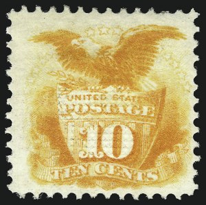 Sale Number 1096, Lot Number 222, 1869 Pictorial Issue (Scott 112-122)10c Yellow (116), 10c Yellow (116)