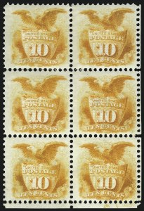 Sale Number 1096, Lot Number 223, 1869 Pictorial Issue (Scott 112-122)10c Yellow (116), 10c Yellow (116)