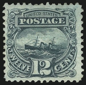 Sale Number 1096, Lot Number 225, 1869 Pictorial Issue (Scott 112-122)12c Green (117), 12c Green (117)