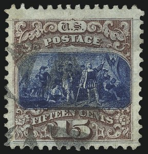 Sale Number 1096, Lot Number 228, 1869 Pictorial Issue (Scott 112-122)15c Brown & Blue, Ty. I (118), 15c Brown & Blue, Ty. I (118)