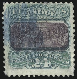 Sale Number 1096, Lot Number 237, 1869 Pictorial Issue Inverts (Scott 119b-121b)24c Green & Violet, Center Inverted (120b), 24c Green & Violet, Center Inverted (120b)