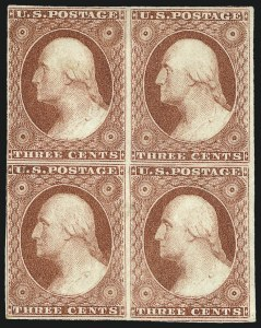 Sale Number 1096, Lot Number 24, 1851-56 Issue (Scott 5-17)3c Dull Red, Ty. I (11), 3c Dull Red, Ty. I (11)