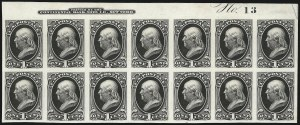 Sale Number 1096, Lot Number 295, 1873-75 Continental Bank Note Co. Issue (Scott 156-166, 178-179)1c Black, Trial Color Proof on Card (156TC4), 1c Black, Trial Color Proof on Card (156TC4)