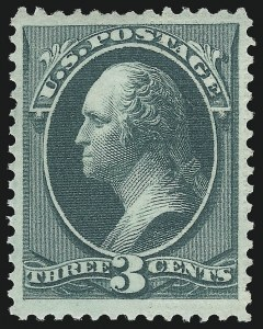 Sale Number 1096, Lot Number 299, 1873-75 Continental Bank Note Co. Issue (Scott 156-166, 178-179)3c Green, Continental Grill (158e), 3c Green, Continental Grill (158e)