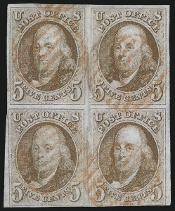 Sale Number 1096, Lot Number 3, 1847 Issue, 1875 Reproduction of 1847 Issue (Scott 1-4)5c Red Brown (1), 5c Red Brown (1)