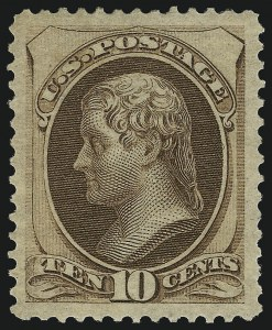 Sale Number 1096, Lot Number 302, 1873-75 Continental Bank Note Co. Issue (Scott 156-166, 178-179)10c Brown (161), 10c Brown (161)