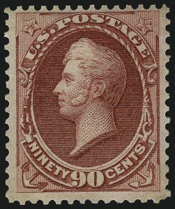 Sale Number 1096, Lot Number 306, 1873-75 Continental Bank Note Co. Issue (Scott 156-166, 178-179)90c Rose Carmine (166), 90c Rose Carmine (166)