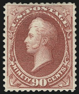 Sale Number 1096, Lot Number 307, 1873-75 Continental Bank Note Co. Issue (Scott 156-166, 178-179)90c Rose Carmine (166), 90c Rose Carmine (166)