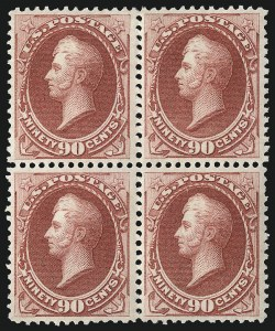 Sale Number 1096, Lot Number 308, 1873-75 Continental Bank Note Co. Issue (Scott 156-166, 178-179)90c Rose Carmine (166), 90c Rose Carmine (166)