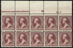 Sale Number 1096, Lot Number 385, 1890-93 Issue (Scott 219-229)2c Lake (219D), 2c Lake (219D)