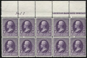 Sale Number 1096, Lot Number 387, 1890-93 Issue (Scott 219-229)3c Purple (221), 3c Purple (221)