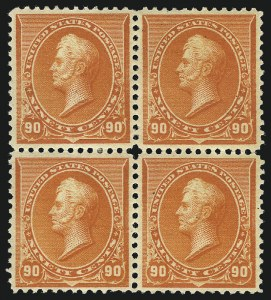 Sale Number 1096, Lot Number 396, 1890-93 Issue (Scott 219-229)90c Orange (229), 90c Orange (229)