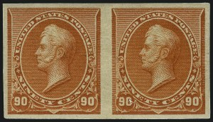 Sale Number 1096, Lot Number 398, 1890-93 Issue (Scott 219-229)1c-90c 1890-93 Issue, Imperforate (219a-229a), 1c-90c 1890-93 Issue, Imperforate (219a-229a)