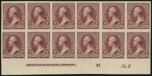 Sale Number 1096, Lot Number 399, 1890-93 Issue (Scott 219-229)2c Lake, Imperforate (219Da), 2c Lake, Imperforate (219Da)