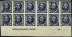 Sale Number 1096, Lot Number 400, 1890-93 Issue (Scott 219-229)15c Indigo, Imperforate (227a), 15c Indigo, Imperforate (227a)