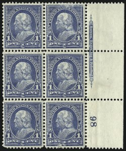 Sale Number 1096, Lot Number 439, 1894 Unwatermarked Bureau Issue (Scott 246-263)1c Ultramarine, 2c Pink (246, 248), 1c Ultramarine, 2c Pink (246, 248)