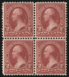 Sale Number 1096, Lot Number 440, 1894 Unwatermarked Bureau Issue (Scott 246-263)2c Carmine Lake, Ty. I (249), 2c Carmine Lake, Ty. I (249)