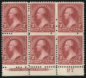 Sale Number 1096, Lot Number 441, 1894 Unwatermarked Bureau Issue (Scott 246-263)2c Carmine Lake, Ty. I (249), 2c Carmine Lake, Ty. I (249)